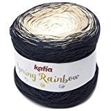 Katia Spring Rainbow-Couleur?: Marino/beige/blanco (50)-150g/env. 600m coton