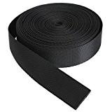 KING DO WAY 9 Mètres 25mm Rouleau De Sangle Ruban Bande En Nylon Accessoire Couture Artisanat DIY Nylon Webbing Tape-Noir