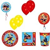 kit anniversaire sam le pompier avec ballons