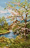 "Kit canevas au demi point de croix ""Printemps"" 25x40 Cod 103"