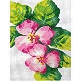 Kit Canevas Fleurs roses - Ref 009