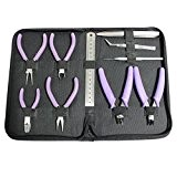 Kit d'Outils de Fabrication de Bijoux 12 Pièces avec Mini Pinces par Kurtzy TM