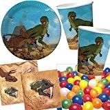 Kit de 37pièces pour fête d'enfants avec assiettes en carton, gobelets en carton et serviettes, décoration pour anniversaire d'enfants ou ...