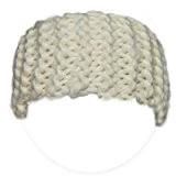 Kit de tricot débutant pour tricoter un Headband en grosse laine du Pérou - Blanc Ours Polaire - Kit pour ...