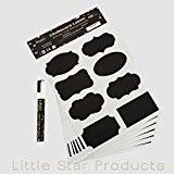 Kit étiquettes Tableau Noir autoadhésives ~ 96étiquettes Craie & 8G Marqueurs à craie liquide Blanc 6mm par Little Star ~ ...