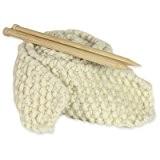Kit Tricot Débutant pour Tricoter Echarpe Grosse Laine Blanc Ours Polaire