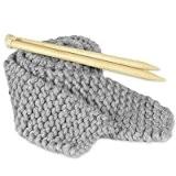 Kit Tricot Débutant pour Tricoter Echarpe Grosse Laine Gris Koala