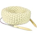Kit Tricot pour Tricoter Snood en Grosse Laine du Pérou Blanc Ours Polaire
