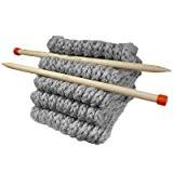 Kit Tricot pour tricoter une maxi écharpe en grosse Laine du Pérou - Kit de tricot 100% laine Péruvienne - ...