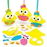 Kits de couture décorations poussins de Pâques en feutre que les enfants pourront fabriquer, décorer et suspendre - Kit de ...