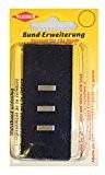 Kleiber 2.5 - 5 cm Rallonges ceinture crochet et barre, Noir