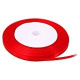 Kolylong RUBAN SATIN Boutique 6mm * 22m Couleur Pure Grosgrain Ribbon Value Pack De Ruban Cadeau Craft MatéRiaux Avec NœUd ...