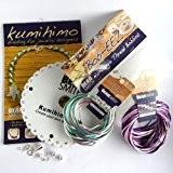 Kumihimo Bijoux Kits-Kit & Deluxe, Purple & Aqua, Starter
