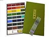 Kuretake Gansai Tambi 36Color Set couleurs (mc2036V) Pinceau Brosse Stylo avec de l'eau jeindeer Arts Embouts Assortis Lot de 3