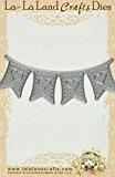 La-La Land Crafts 1.6-inch Cœur bannière Die 10x 15cm