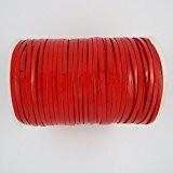 Lacets en cuir plats rouges pour colliers/loisirs créatifs Longueur 10m Largeur 5mm