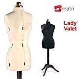 Lady Valet Buste de couture Mannequin femme réglable - Blanc / Medium