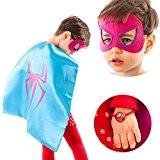 LAEGENDARY Costumes de Super Héros pour Enfants - 4 Capes et Masques - Logo Wonder Woman qui Brille dans le ...
