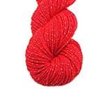 Laine à Tricoter Pelote Douce en acrylique pour Yarn Tricot Double-Rouge