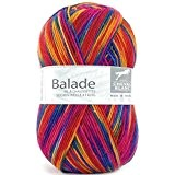 Laine BALADE Cheval Blanc - Laine chaussettes 410 Multicoloré