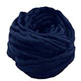 Laine Tricot de Coton Fil à Tricoter Coton Cosy Fil pour Tricoter à la Main,250G/Roll,Foncé Bleu