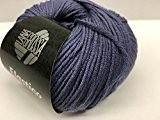 Lana Grossa Pelote à tricoter élastique Tico 135Prune Bleu 50g