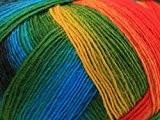 Lang Yarns Jawoll Magic Laine dégradée Chaussettes fil à tricoter Jaune/Rouge/Vert/Bleu-Par 100g Boule