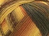 Lang Yarns Jawoll Magic Laine dégradée Chaussettes fil à tricoter/or/Gingembre/marron-par 100g Boule + sans Minerva Crafts Craft Guide