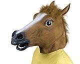 Latex Rubber Horse Head Mask Costume Halloween Gangnam Style Dance-One