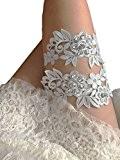 Lemandy fait main Paire de Jambe Bandes femmes Jarretière de mariée legband Fleurs en dentelle legband porte-jarretelles de mariage pour ...