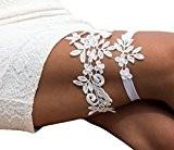 Lemandy Mariage porte-jarretelles pour mariée de mariage porte-jarretelles Ivoire Mariage Bandes de jambe Jarretière en dentelle pour fête et mariage ...