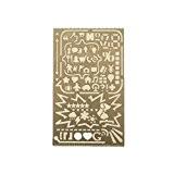 Lenhar Portable tout en acier inoxydable 60ouvertures Pochoir Dessin Template Nombre lettres de l'alphabet Icon Outil DIY Album photo Accessoires ...
