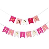 LEORX HAPPY BIRTHDAY Banderole Bannière Décorations d'anniversaire Guirlande