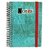 Les Petites Kasko - Carnet De Notes Spirales Typo Blue - A6