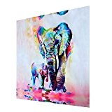 LianLe®Dessin D'ornement Tableau decoration Peinture à l'huile Sur Toile D'Art Moderne Sans Encadrement Éléphant Cartoon