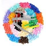 [LIHAO Pressions + kit de Pince] 300pcs Boutons Pressions Plastiques T5 12mm Pressions Multicolores 20 coloris + lot de Pince ...