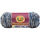 Lion Brand Yarn Company 1 pièce Homespun, Lune bleue, Bleu/Argent