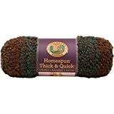 Lion Brand Yarn Company 1 pièce Homespun Thick and Quick, Rayures boisées, Multicolore