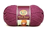 Lion Brand Yarn Company 1 pièce Wool-Ease Thick and Quick, Figue
