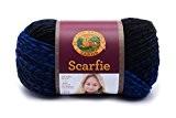 Lion Brand Yarn scarfie fil, acrylique, noir/royal