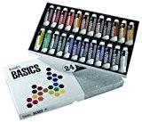 Liquitex Basics Pack de 24 Tubes de Peintures acryliques 22 ml Couleurs Assorties