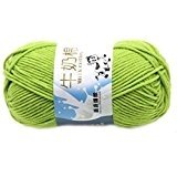 Lisse Knitting Doux Lait Coton Naturel Laine Yarn Baby Ball Wool Craft-Green Light