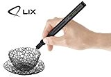 LIX PEN (Noir) - 3D Pen - 2 paquets de filaments de plastique - prise européenne