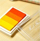 Lot de 1 Craft Orange Colorful Pad Tampon d'encre Pad d'encre pour Tampon en bois deco Tampon encreur papier Craft Joint ...