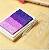 Lot de 1Tampon en bois en papier coloré Pad Tampon d'encre Pad d'encre pour Tampon Violet Deco Stamp Craft Joint ...
