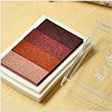 Lot de 1Tampon en bois en papier coloré Pad Tampon d'encre Pad d'encre pour Tampon Marron Deco Stamp Craft Joint ...