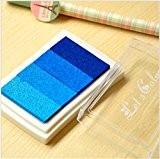 Lot de 1Tampon en bois en papier Craft Bleu Coloré Pad Tampon d'encre Pad d'encre pour Tampon Deco Stamp Craft ...