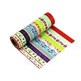Lot de 10 Washi Tape Masking Tape Ruban adhésif décoratif coloré Scrapbooking -G1