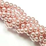 Lot de 100 perles verre nacré 6mm rose pâle