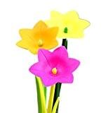 Lot de 12fantaisie fleur herbe en plastique pour enfant en silicone étudiants papeterie de bureau cadeau stylo Stylo à encre ...